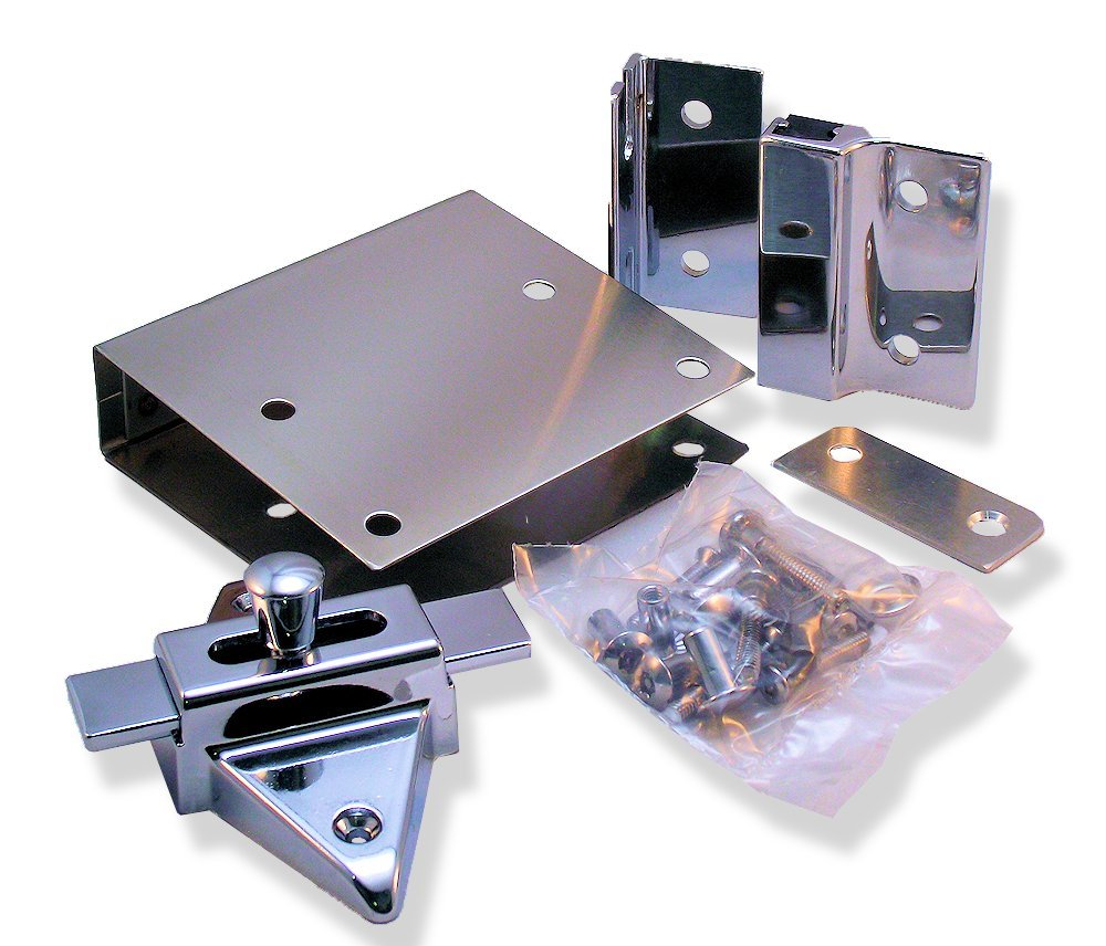 Fix It Latch Kit for Restroom Partitions - for 1'' Square Edge Doors - Inswing
