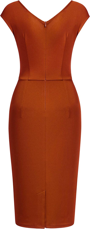 Miusol Womens Vintage Business Slim Style Pencil Dress
