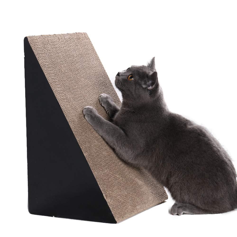 41X23X27cm YUHAO Triangle Cat Scratch Board,Recyclable Corrugated Cardboard,Cat Scratch Board Couch with Catnip(58X34X27cm)