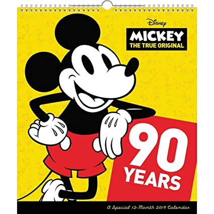 mickey mouse special edition wall calendar 2019