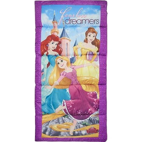 AM Kids - Saco de dormir para niñas, diseño de princesas de Disney, color morado, ...