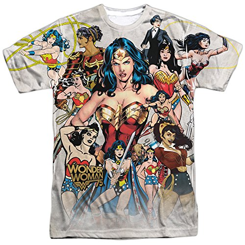 Wonder+Woman+Shirts Products : Wonder Woman - 75th Collage All Over Print T-Shirt
