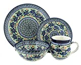 Polish Pottery Lidia 4 Piece Dinner Set