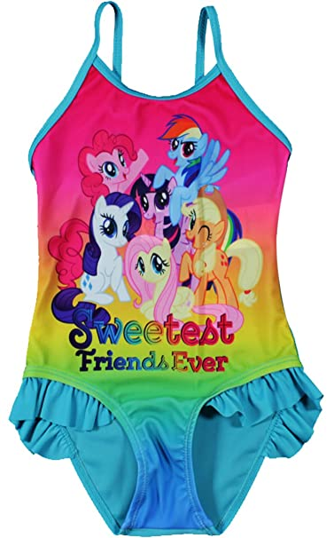 053a54cda4053 MLP My Little Pony Swimming Costume: Amazon.co.uk: Clothing