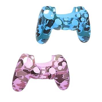MagiDeal 2pcs Estuche Funda Protector de Silicona Suave para Sony Playstation 4 Controlador PS4: Amazon.es: Juguetes y juegos