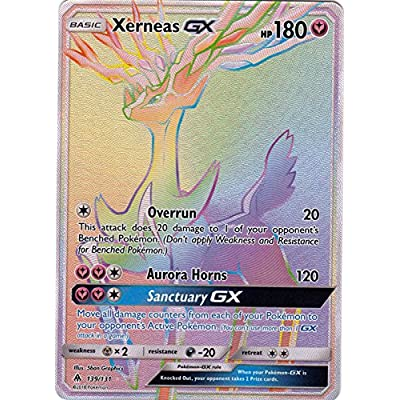 Xerneas GX - 139/131 - Secret Rare - Forbidden Light: Toys & Games