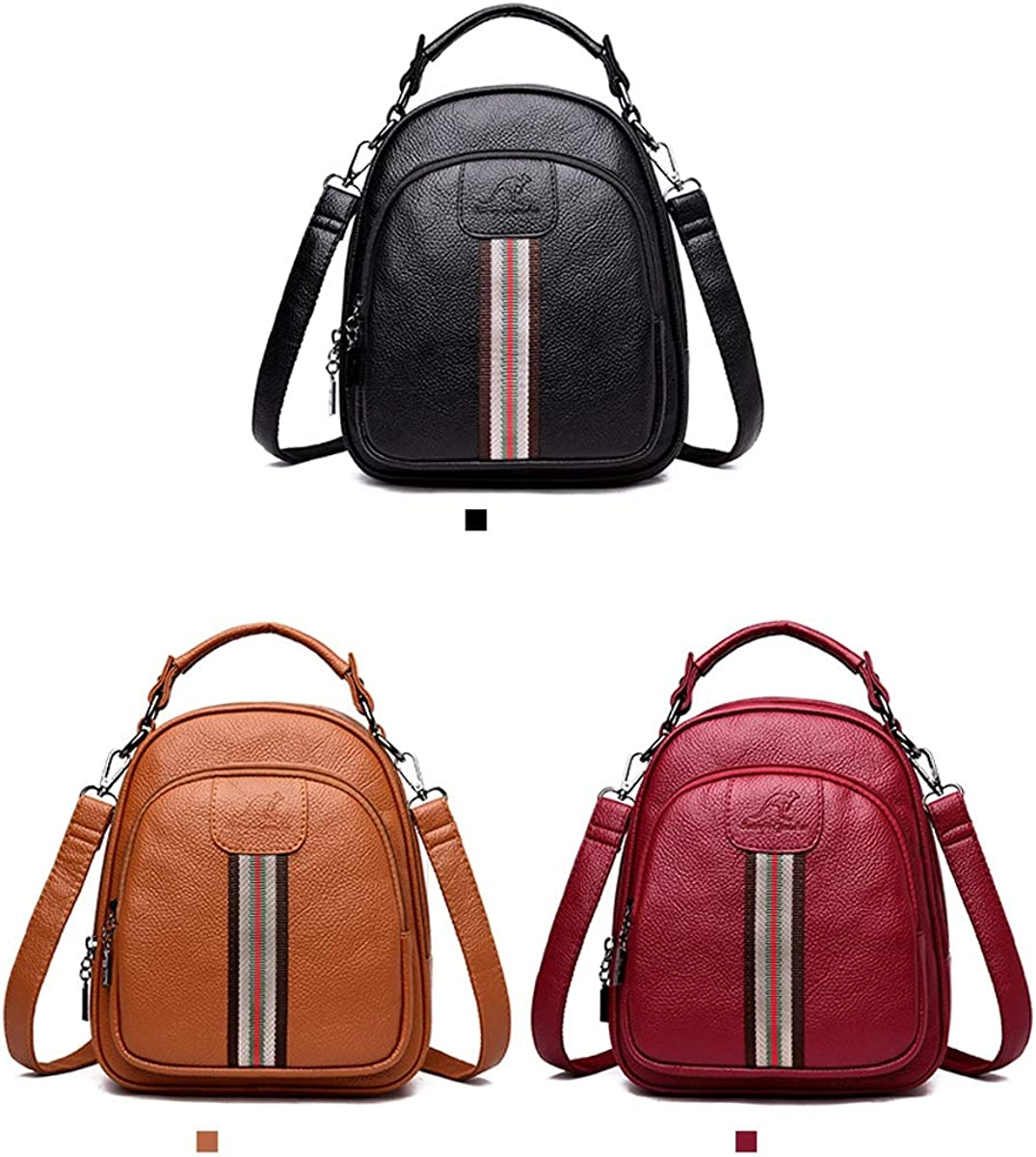 Fashion Mini for Women /& Men Black//Brown//red ZHICHUANG Girls Multipurpose Backpack for Everyday Travel//Outdoor//Travel//School//Work//Fashion//Leisure PU Leather