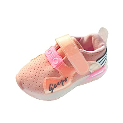 Auwer Autumn Toddler Sport Running Baby Shoes Boys Girls LED Luminous Shoes Sneakers