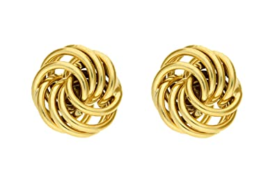 Carissima Gold Women's 9 ct Yellow Gold Mini Rose Stud Earrings Br7GwuUK