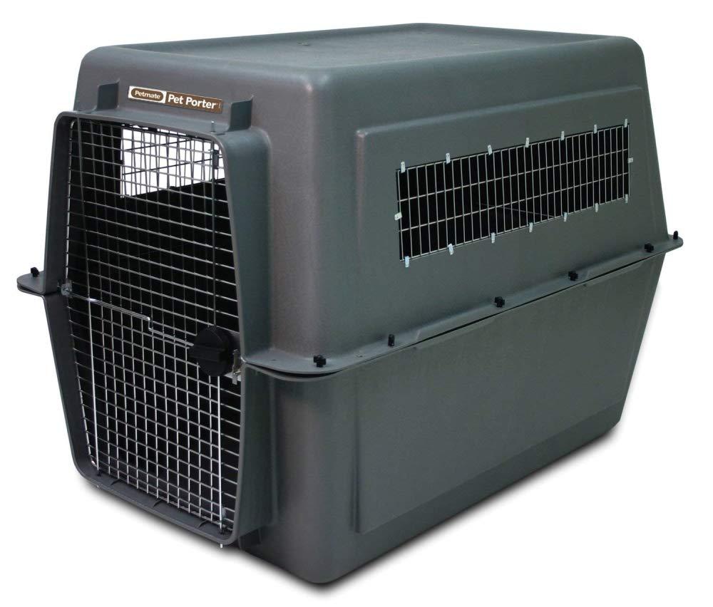 Aspen Pet Porter Heavy-Duty Pet Carrier,Dark Gray/Black,90-125 LBS by Petmate (Image #4)
