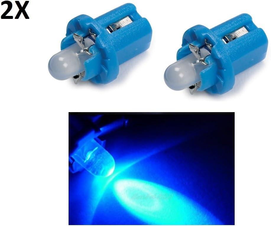 2 LED T5 B8.5D BLU COB SMD Lampade Luci Per Cruscotto Quadro Strumenti 12v