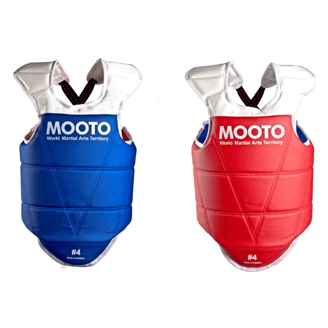 Mooto Korea Taekwondo Reversible Chest Guard Approved Protector Gear MMA TKD Martial Arts