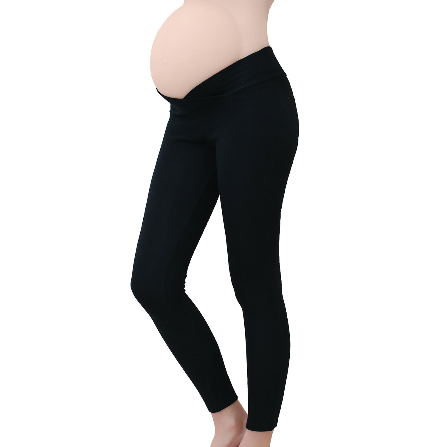 Tremour Cotton Fit Maternity Belly Leggings for Pregnant Women Black 2XL