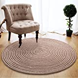 CarPET Area Rugs Hand-woven Rope Bedroom Bedside Round Computer Cushion Home Floor Mat Double-sided Cushion Rugs (Color : C, Size : 100cm)