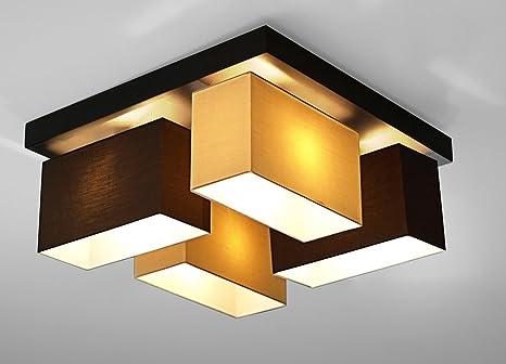 Deckenleuchte Wohnzimmer Wero Design Vitoria-001 Braun/Cappuccino 4 ...