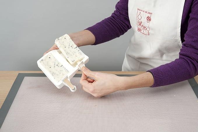 silikomart - Kit de 100 Palitos de Madera para Helados