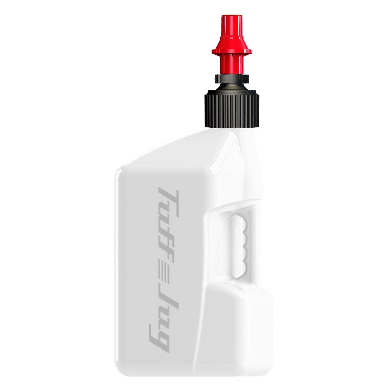 Tuff Jug Gas Cans 5 Gal Wht W/Red Cap Jugs with Ripper Cap