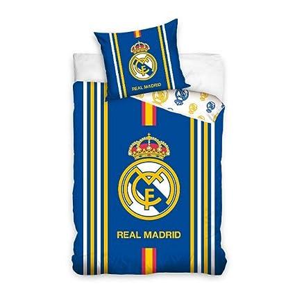 Funda Nordica Real Madrid Cama 90.Real Madrid Rm16 1001 Juego Funda Nordica Reversible 160 X 200 Cm Para Cama De 90 X 200 Cm Y Funda Cojin 70 X 80 Cm Rm16 1001