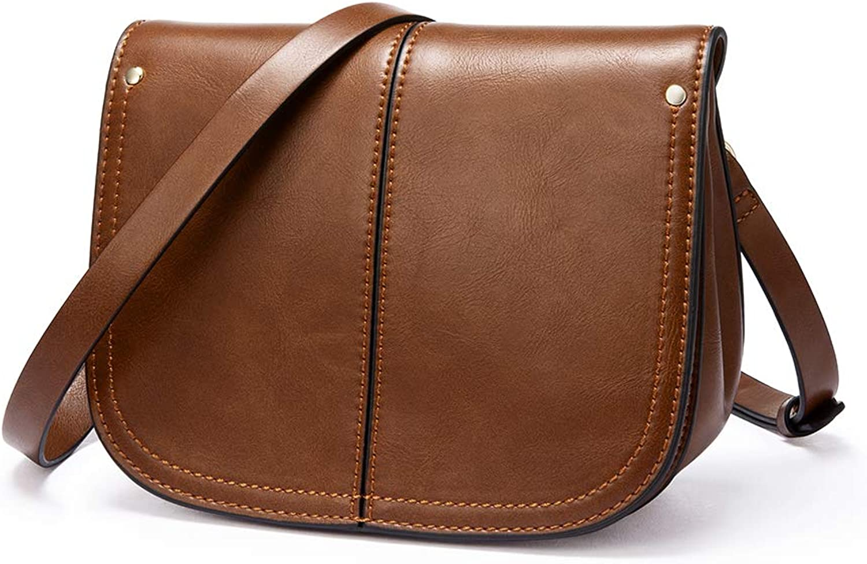 Crossbody Bags for Women Leather, Handbags for women, Satchel Handbags, Small Saddle Purses, Flap Handbags, Removable Strap