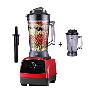 2800W 4.0L commercial professional smoothies powerful blender food mixer juicer with german motor technology,red jarlid,US Plug