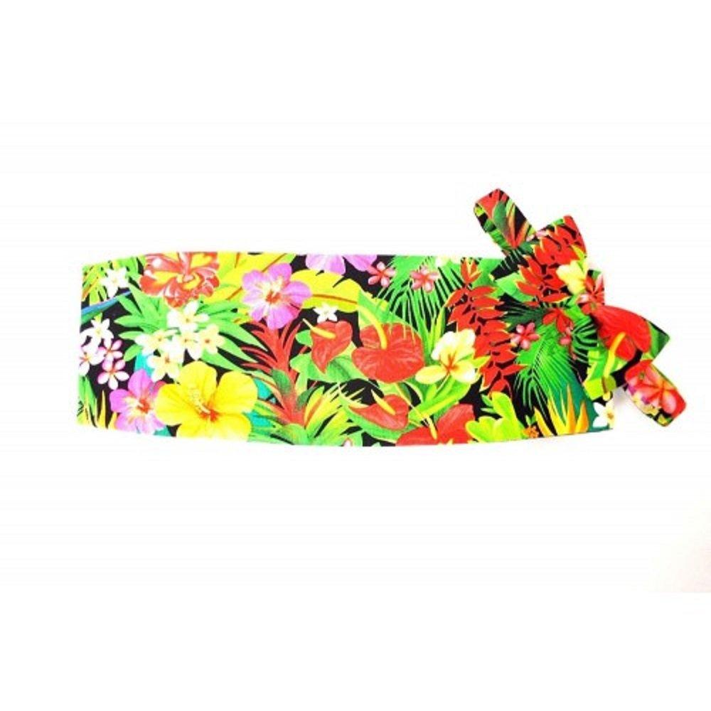Hawaiian Floral Menagerie Cummerbund and Bowtie Set by David's Formal Wear