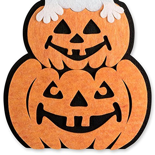 Brave669 Cute Pumpkin Ghost Hanging Wall Door Window Decoration for Halloween Party Home Ghost and Pumpkin ()
