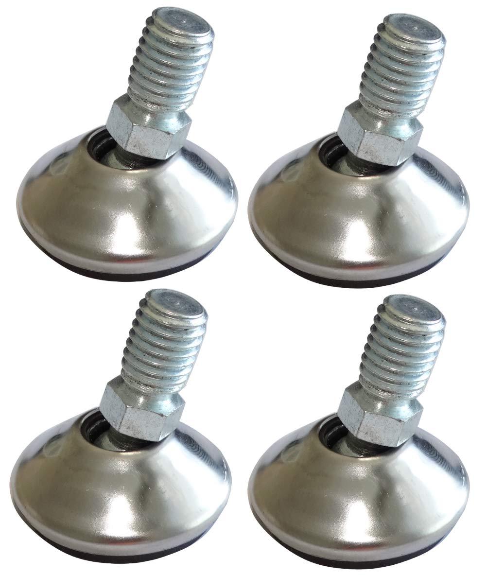 10 piezas Patas pivotantes ajustables regulables para muebles M10 para atornillar /Ø32 H35mm C42475 AERZETIX