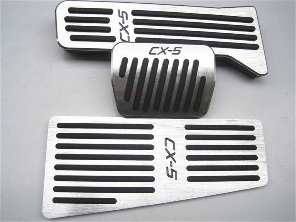Bestmay de voiture /à p/édale de frein Couverture Repose-pieds P/édales Coussinets de gaz pour M azda CX-5 /à