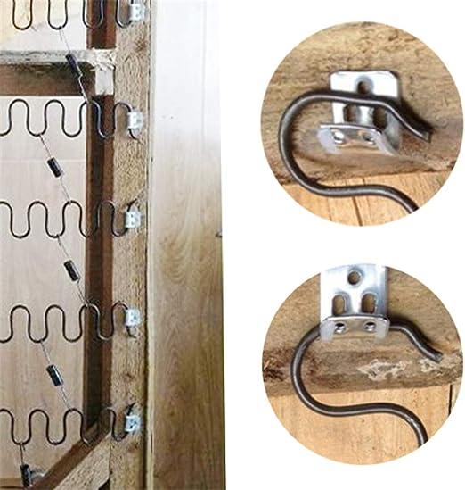 Reparatur-Set f/ür Sofa in M/öbel 4 St/ück JJDD Ersatz-Federn f/ür Sofa Auto oder anderen Anwendungen Innendekoration 4,0 Draht-Durchmesser 50,8 cm Feder mit 16 St/ück S-Clips