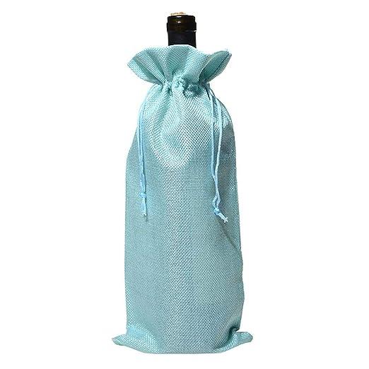 Vaskey - Bolsas de Yute para Vino, decoración navideña ...