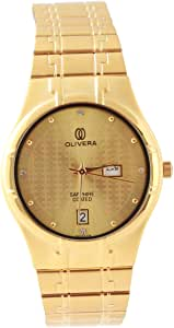 Analog Stainless Steel Watch For Men by Olivera, OG2320