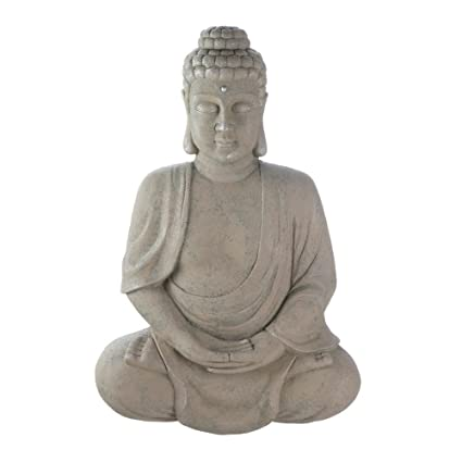 Thai Meditation Buddha Wall Mounted Statue Sculptures Home Kitchen Decor Indoor Outdoor Ornament Yard Decorative