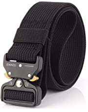 """Men Tactical Belt 1.57"""" Heavy Duty Belt, Quick-Release Military Style Shooters Nylon Belts with Metal Buckle"""
