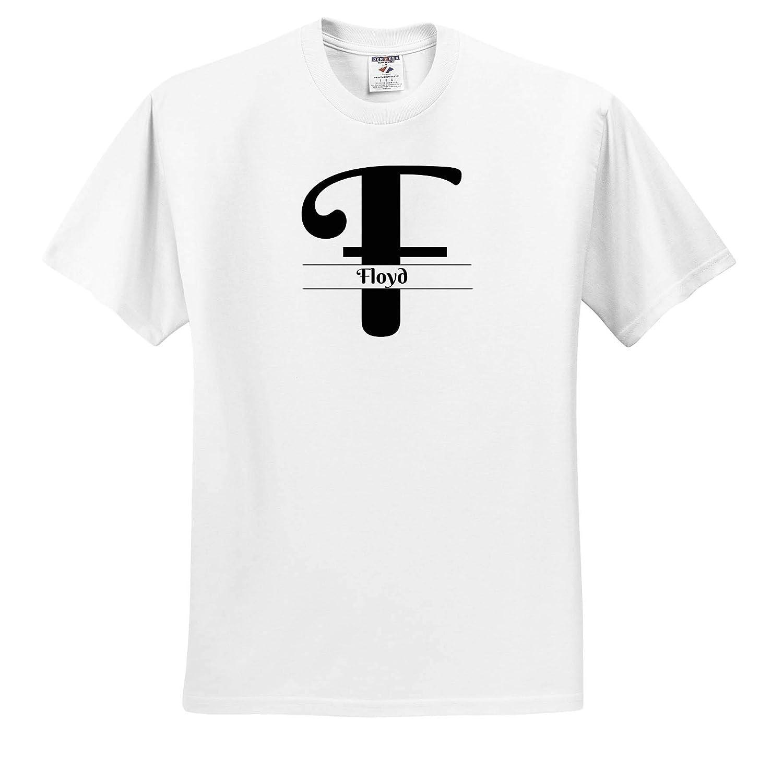 Bold Script Monogram F Floyd 3dRose BrooklynMeme Monograms T-Shirts