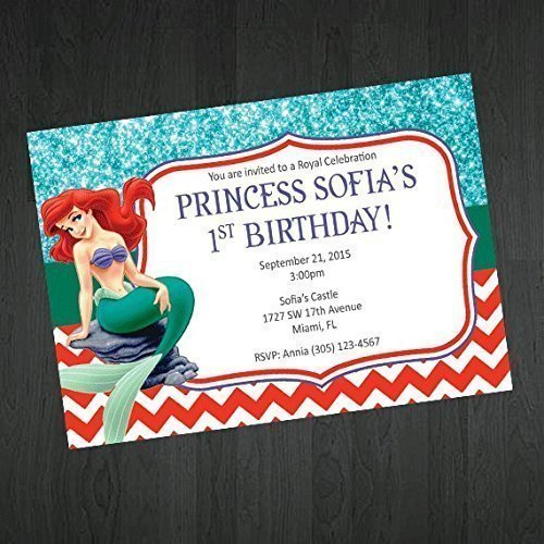 Amazon little mermaid birthday invitations ariel birthday little mermaid birthday invitations ariel birthday invitation birthday party invitations princess invitations filmwisefo