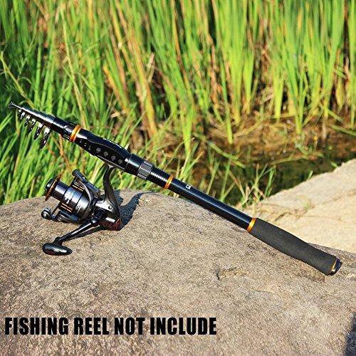 Spinning Telescopic Fishing Rod Graphite Carbon Fiber Portable Hard Fishing pole