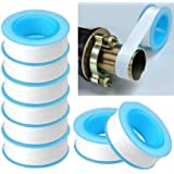 dolpineer TOTAL HOME Plastic 10-Pieces Roll Plumbing Teflon Tape PTFE for Water Pipe Sealing (Multicolour)