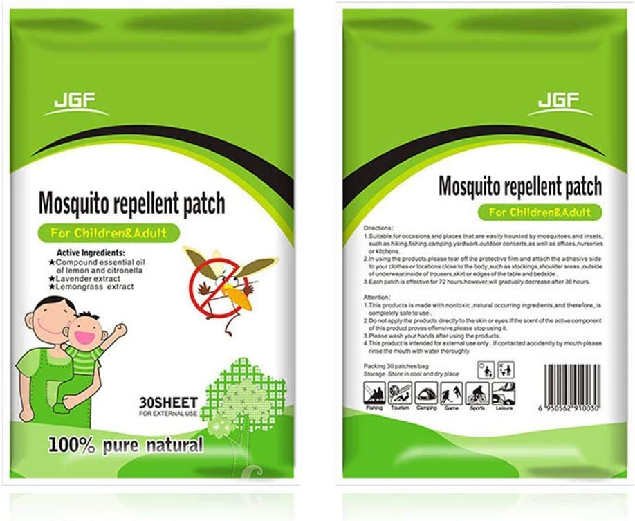 Non Toxique pour Enfants et Adultes x30 Patchs Anti-Insectes naturels Portables heresell Patchs Anti-moustiques hypoallerg/énique et Anti-Insectes de Longue dur/ée