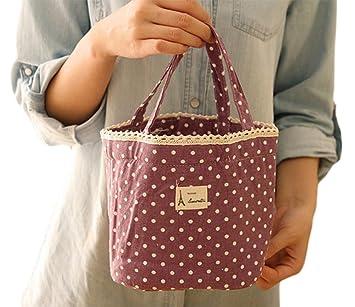 Picknick Milopon Lunch Tasche Lunch-Paket Lunch Tote Mittagessen Tasche Thermotasche K/ühltasche Isoliertasche Picknicktasche f/ür Camping Gr/ün
