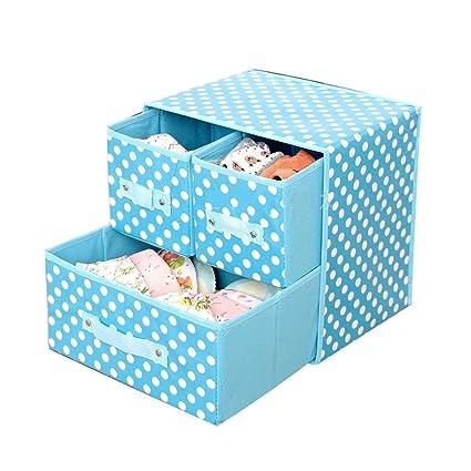 SHOUNAHE Caja De Almacenamiento - Caja de almacenaje Gabinete De Guardarropa con 3 Cajones Almacenamiento De