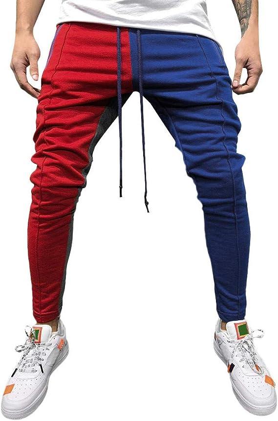 OHQ Pantalon De Sport à Bretelles Pour Hommes, Couture