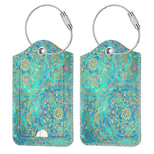 2 identificadores para valija equipaje mochila shades blue