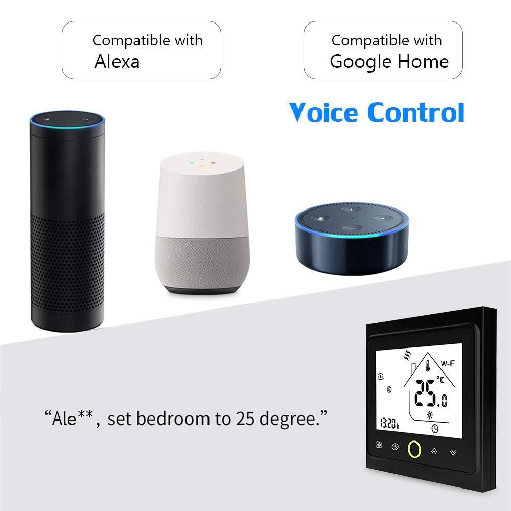 Galapara WiFi Programable Digital Calderas De Gas Termostato Wi-Fi Smart Thermostat Temperature Controller App Control 5A Compatible con Alexa//Google Home Termostatos de Caldera de Agua