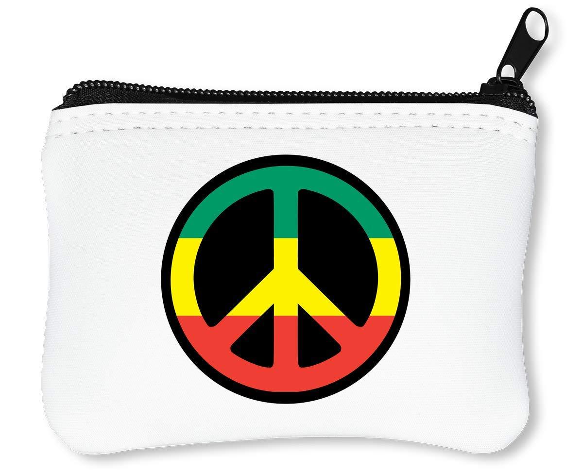 Reggae Hippie Peace Sign Graphic Billetera con Cremallera ...