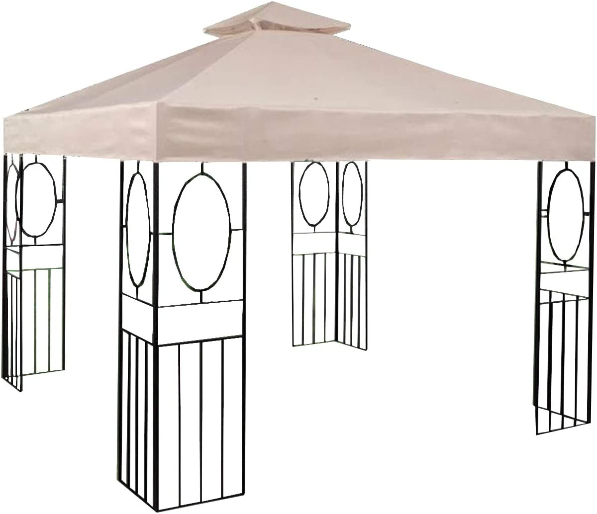 Garden Winds Replacement Canopy Top Cover for The 10' x 10' Masley Gazebo - 350
