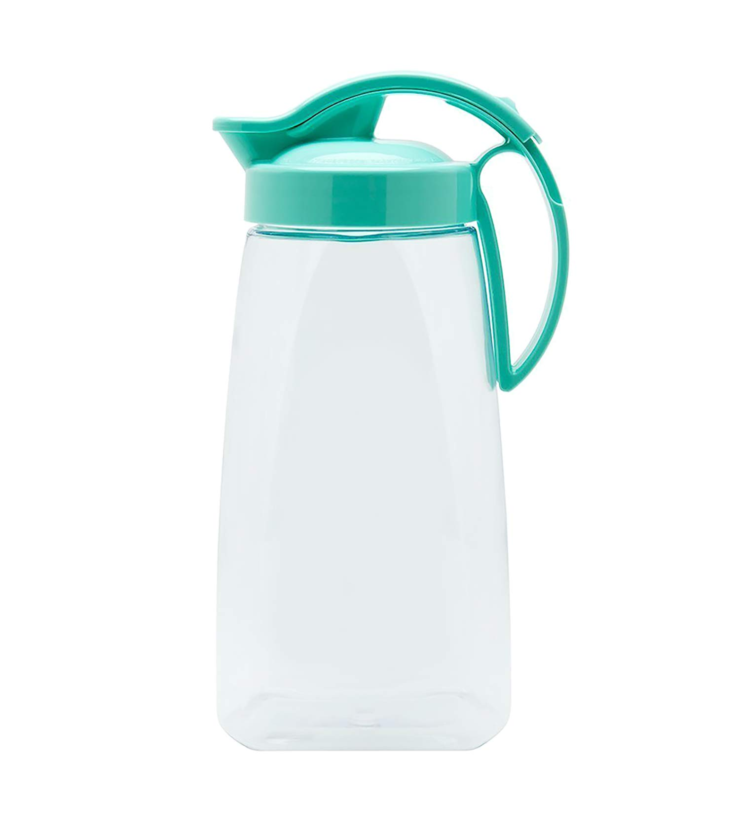 High Heat Resistant One-touch Airtight Pitcher 2.3QT (74oz) for Water, Coffee, Tea, Other Hot or Cold Beverages | Leak Proof & Space Saving, Dishwasher Safe, BPA Free | Made in Japan - Turquoise by Invisioncorp