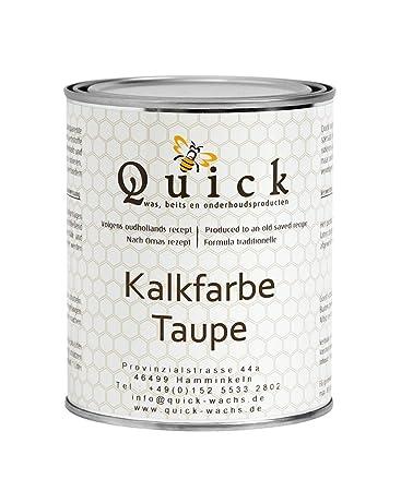 Quick Kalkfarbe Hoch Beanspruchbare Kreidefarbe Fur Shabby Chic Und Landhaus Stil 1 5 Kg 1liter Taupe