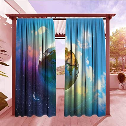 Amazon.com : AndyTours Balcony Curtains Apartment Decor ...
