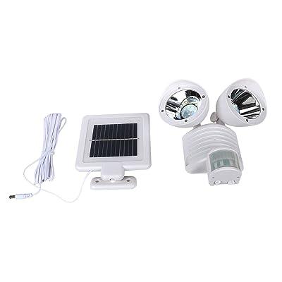 à double tête lampe solaire LED Lampe de jardin Projecteur extérieur ...