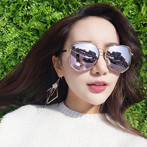 para para frame mujer VVIIYJ sol Sun Gafas sol Mercury de Golden de Gafas polarizadas de de sol powder blossom cherry plata blanco Gafas hombre Honglei Caja q8Aw68B0x